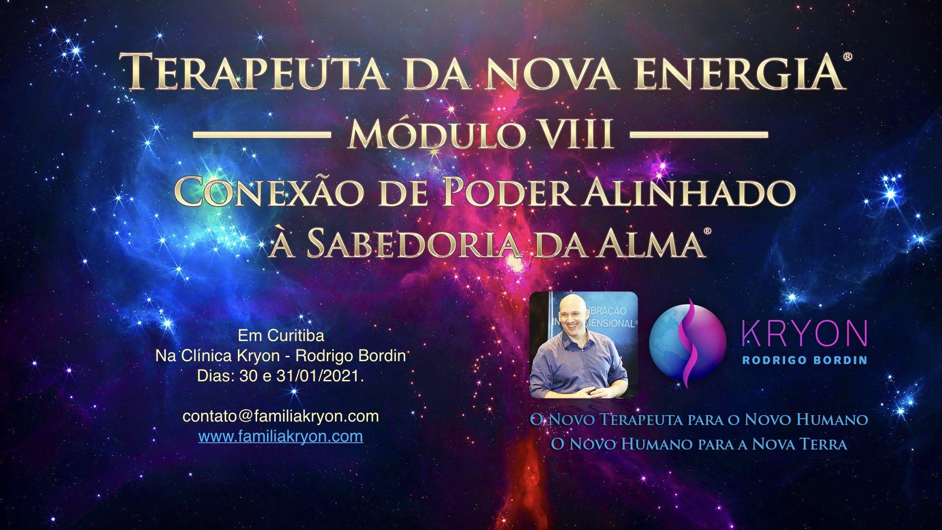 Terapeuta da Nova Energia® - Módulo VIII - Conexão de Poder Alinhado à Sabedoria da Alma®