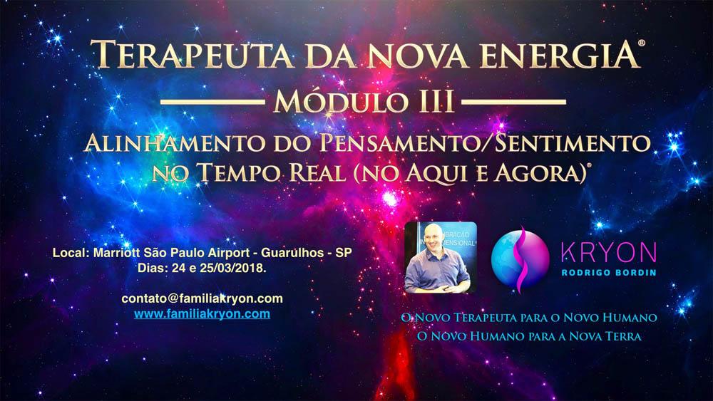 Terapeuta da Nova Energia® - Módulo III - Ativação do Alinhamento do Pensamento Sentimento no Tempo Real (no Aqui e Agora)®